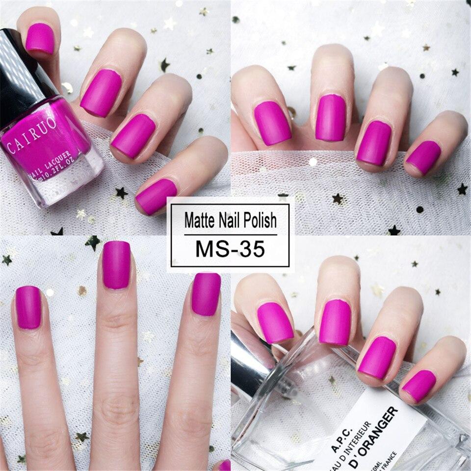 1 Bottle Nail Polish 6ml Black Matte Dull Fast-dry