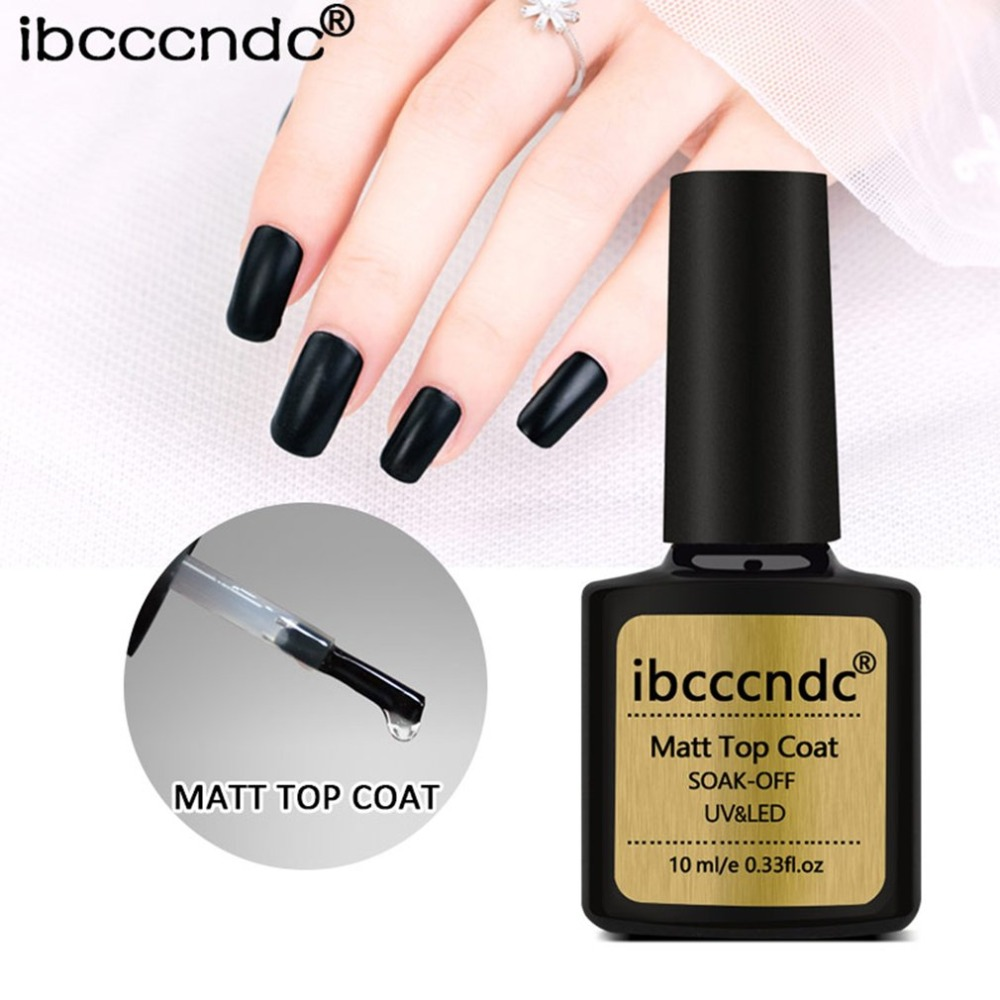 10ml DIY Matte Top Coat Gel Nail Polish Manicure