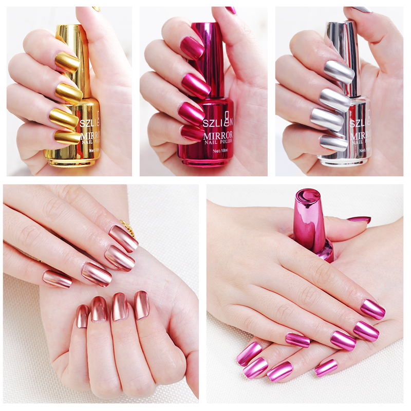 2020 Hot Sale Mirror Nail Polish Metallic Nail