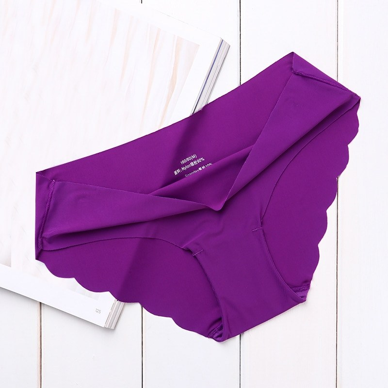 High Quality Seamless Panties - Solid Ultra-thin - low-Rise Ruffles