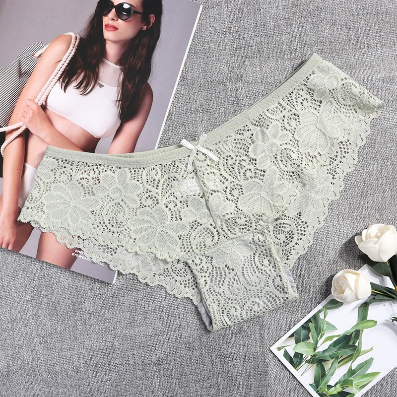 3 Pcs Panties - Sexy Lace Breathable Soft Lingerie