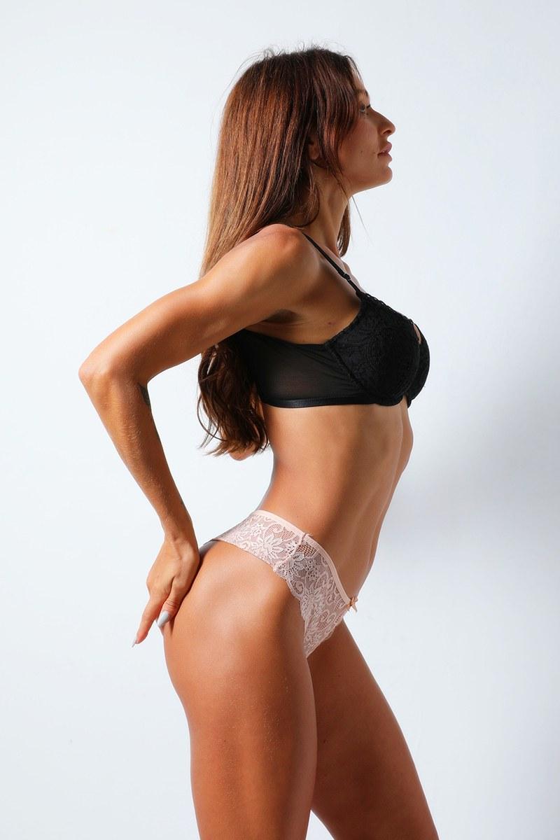 Plus Size Black/Red/Skin Panties - V-string Underwear