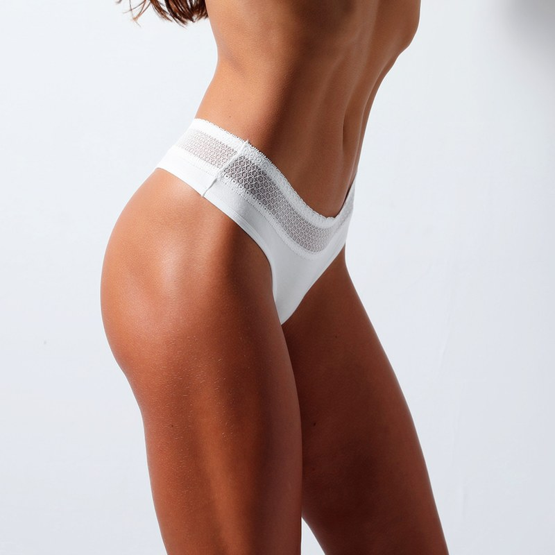 Low-Rise Cotton Padded G-String - Exotic Panties
