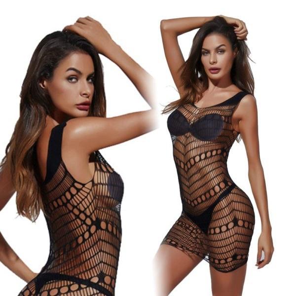 Fetish Sexy Mini Dress Fishnet - Night Bodystockings Sex Game