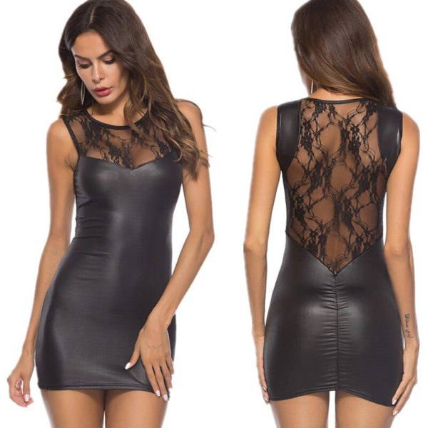 Erotic Latex Leather - Backless Night Clubwear Pole Dance
